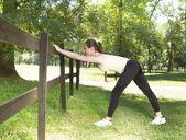 открытый фитнес девушка — Стоковое фото