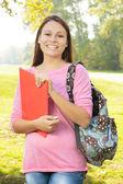 Happy student outdoor — Stock Photo