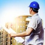 Architect on construction site — Stock Photo #38847989