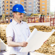 Foreman looking the project — Stock Photo