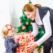 Family Christmas Moments — Stock Photo