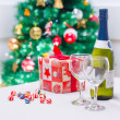 Christmas Decoration Setting — Stock Photo