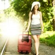 Attractive woman traveling — Stock Photo #48585137