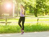 Running Woman — Stock Photo