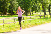 Running Woman Jogging — Stock Photo