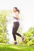 Running Woman Jogging — Stock Photo