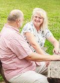 Elderly Couple relaxing — Stock Photo