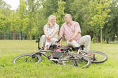 Happy elderly couple relaxing  — Stock Photo