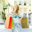 Attractive shopping woman — Stock Photo #9952769