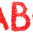 Stock Photo: Red ABC