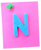 Color notes with letter — Stock Photo