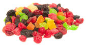 Candied and dried fruits from berries — Stock Photo
