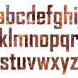 Rusted letters - Stock Vector