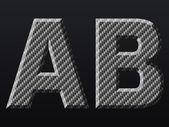 Kol bokstäver — Stockvektor
