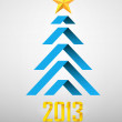 Origami New Year Tree - Stockvectorbeeld