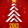 Origami New Year Tree - Imagen vectorial