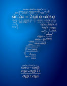 Question mark to create one of the mathematical formulas — Vector de stock