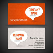 Business card set — Vettoriale Stock
