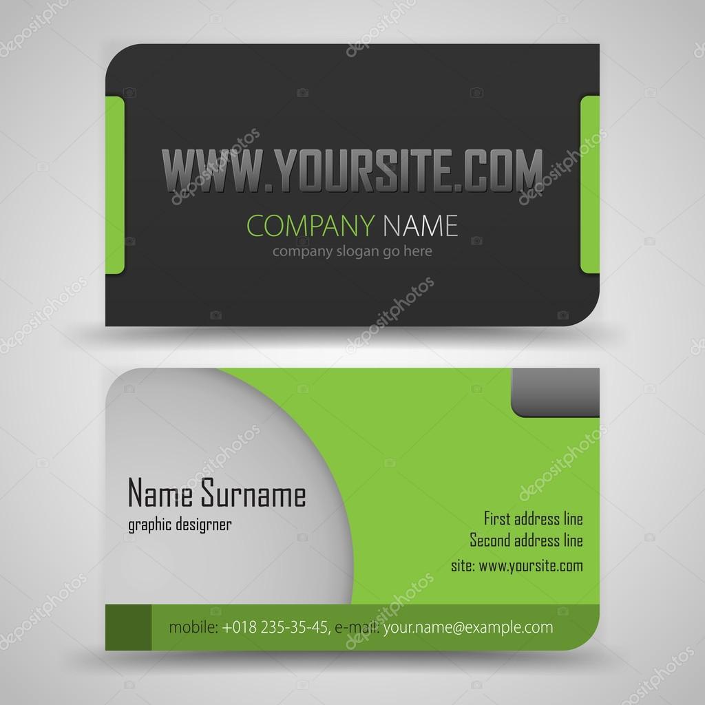 Business Card Set — Stock Vector © vtorous