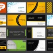 Set of business cards - Vettoriali Stock