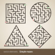 Set of maze — Stock Vector