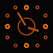 Reloj de neón abstracto — Vector de stock