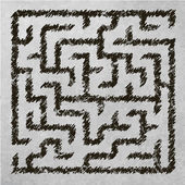 Illustration of maze — Stock Vector