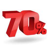 70 percent illustration — Stock Vector
