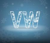 Snow letter — Wektor stockowy