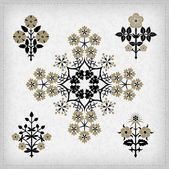 Set of vector ornaments. — Stockvector