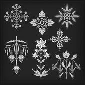 Set of vector ornaments. — ストックベクタ