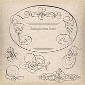 Calligraphy elements — Stock Vector