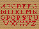 Knitted alphabet — Vector de stock