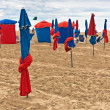 Parasols on Deauville Beach, Normandy, France — Stock Photo