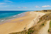 The beach at carteret, normandy, france — Stock Photo