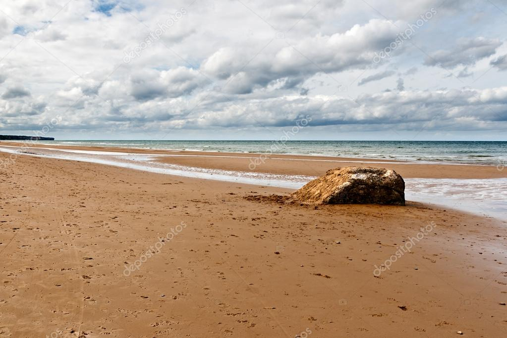 Omaha Beach, one of the D-Day beaches of Normandy, France  — Stock Photo #12748012