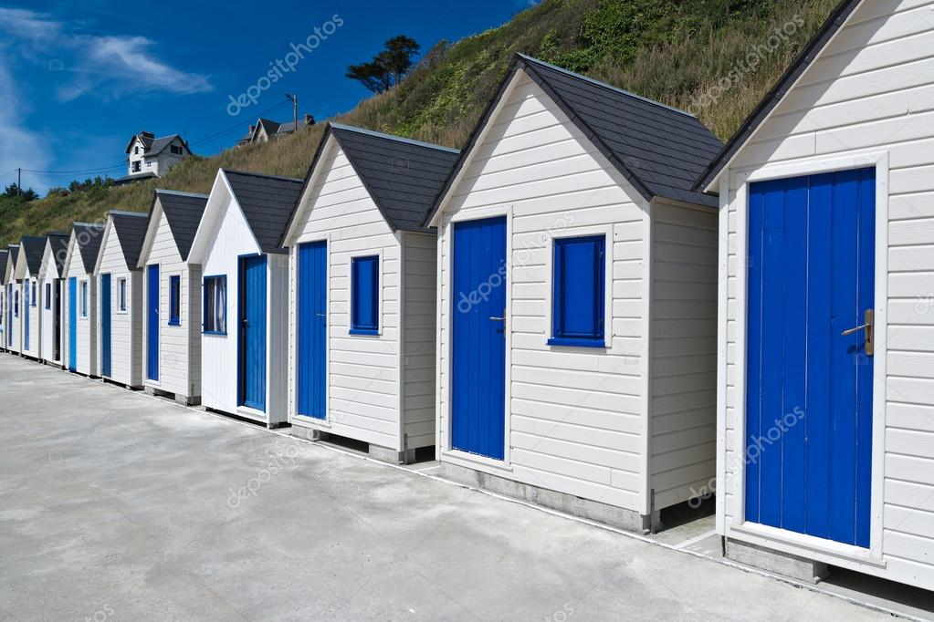 Famous Beach Huts in Trouville, Normandy, France — Stock Photo #12748030