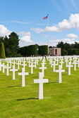 American War Cemetery at Omaha Beach, Normandy (Colleville-sur-M — Stock Photo
