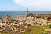 Lighthouse of Goury at Cap de la Hague , Normandy, France — Stock Photo