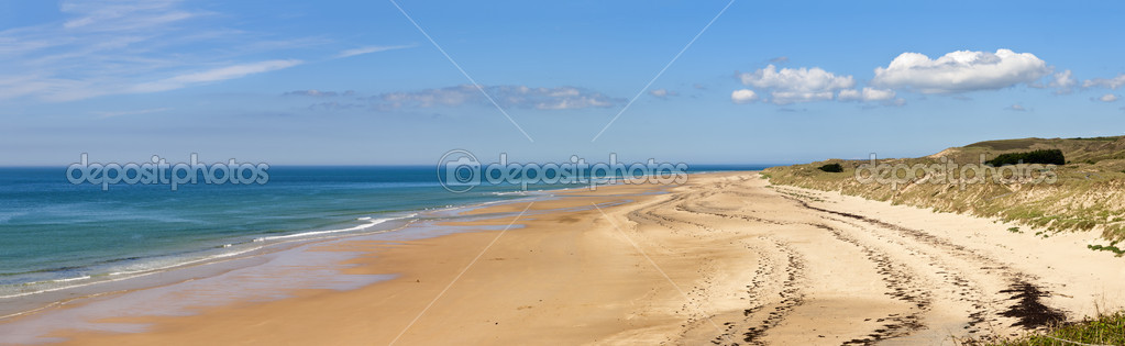 Panorama of the The beach at carteret,  normandy, france  — Stock fotografie #12962253