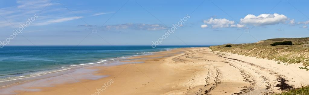 Panorama of the The beach at carteret,  normandy, france   Foto Stock #12962253