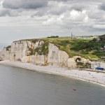Cliffs of Etretat Panorama, Normandy, France — Stock Photo