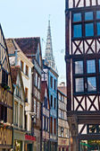 Half-Timbered Houses in Rouen, Normandy, France — Stock Photo