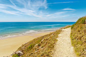 Path to the beach in carteret, normandy, france — Stock Photo