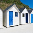 Famous Beach Huts in Trouville, Normandy, France — Stock Photo