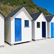 Famous Beach Huts in Trouville, Normandy, France — Stock Photo #14051220