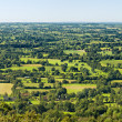 Typical Landscape Panorama in Normandy, France — Stock Photo