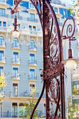 Famous Modernist Streetlamp in Barcelona, Catalonia — Stock Photo