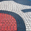 Stock Photo: Detail of Mosaic in Les Rambles, Barcelona