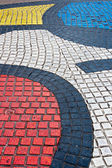 Detail of Mosaic in Les Rambles, Barcelona — Stock Photo